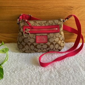 COACH Crossbody bag with heart shaped zipper